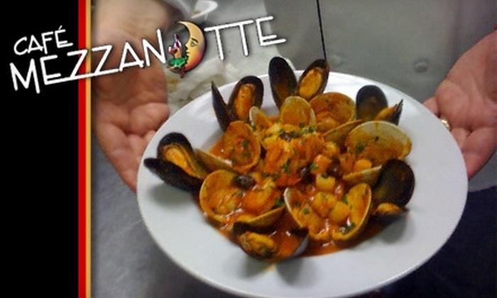 Café Mezzanotte - Wilmington: $20 for $40 Worth of Fine Italian Cuisine and Drinks at Café Mezzanotte