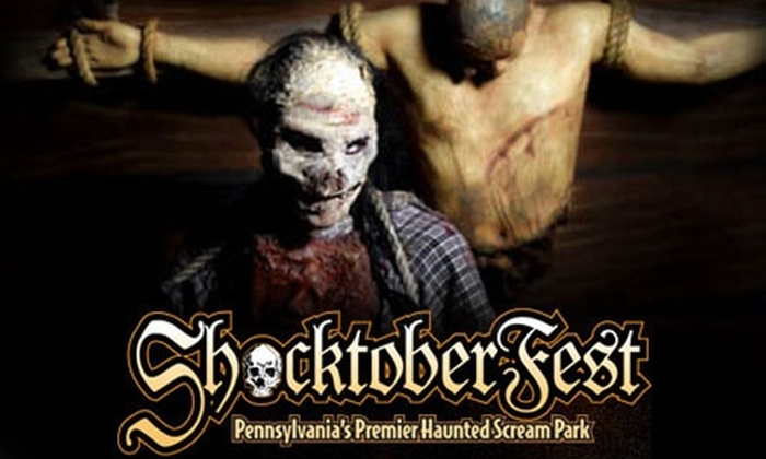 Shocktoberfest - Sinking Spring: $24 for an All-Access Pass and RIP Front-of-the-Line Pass to Shocktoberfest Scream Park