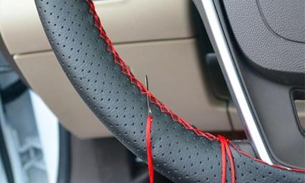 Coprivolante da cucire per auto in pelle sintetica