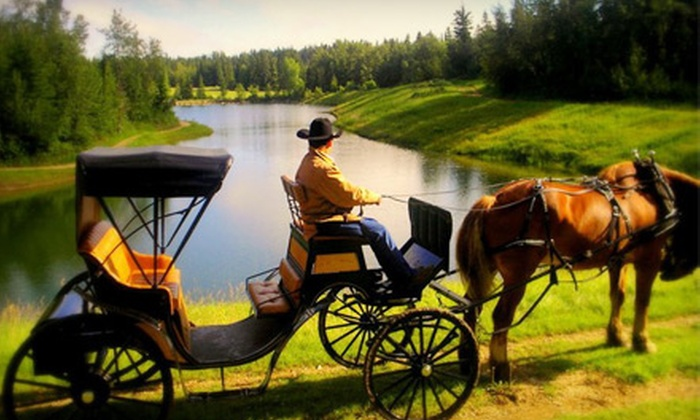 Heritage Ranch - Red Deer: Horseback Ride, Wagon or Sleigh Ride, or Carriage and Concert Evening for Two at Heritage Farms in Red Deer