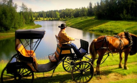 Carriage Ride, Steak Dinner for 2, & 2 Tickets to See Gary Fjellgaard on Oct. 8 (a $75 value) - Heritage Ranch in Red Deer
