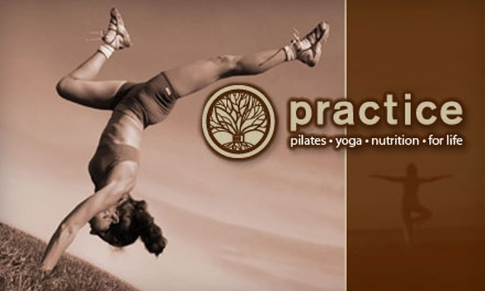 Practice - Washington: $21 for Three Group Yoga or Three Pilates Matwork Classes at Practice ($51 Value)