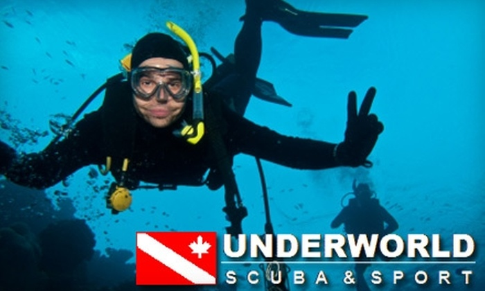 Underworld Scuba & Sport - Multiple Locations: $20 For a Discover Scuba Beginner Diving Class (a $45 value) at Underworld Scuba & Sport
