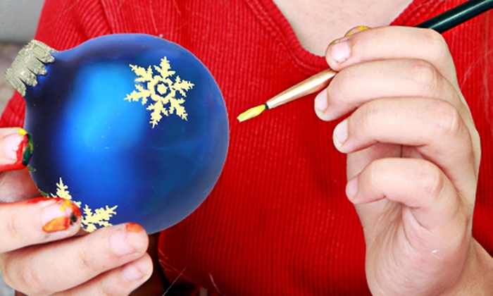 InterArt - Downtown: BYOB Christmas-Ornament-Painting or Stocking-Painting Class for One, Two, or Four at InterArt (Up to 53% Off)