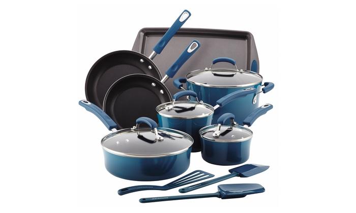 Rachael Ray Porcelain II Nonstick Cookware Set (14-Piece): Rachael Ray Porcelain II Nonstick Cookware Set (14-Piece)