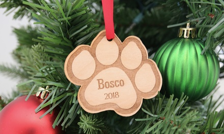 One, Two, Three, Four Personalized Pet Ornaments from 2712 Designs (Up to 76% Off)