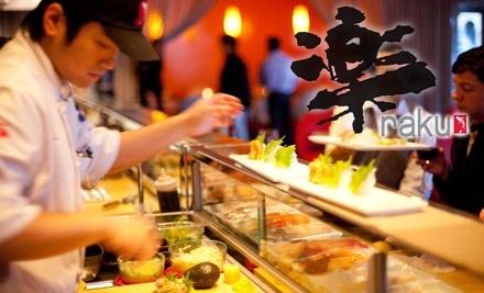 $30 Groupon to Sushi Raku - Sushi Raku in Houston