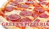 $10 for Pizza at Greek's Pizzeria