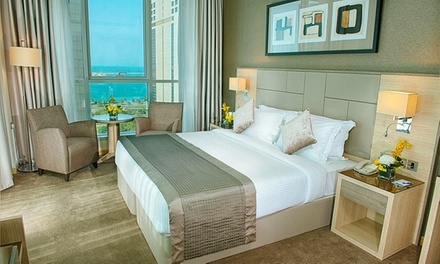 Abu Dhabi: 1 3 Nights in Deluxe Room for Two with Breakfast and Theme Park Tickets at the 4* TRYP Hotel by Wyndham