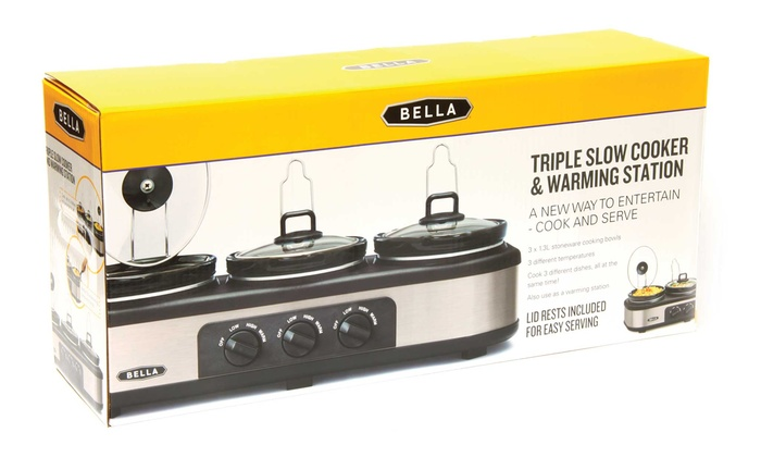 bella triple slow cooker instructions