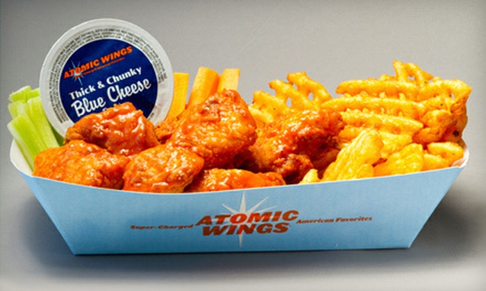 Atomic Wings - Multiple Locations: $5 Toward Wings, Sandwiches, and Wraps