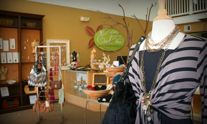 EcoChic Boutique - Wilmington-Newark: $25 for $50 Worth of Women's Apparel and Accessories at EcoChic Boutique in Milford