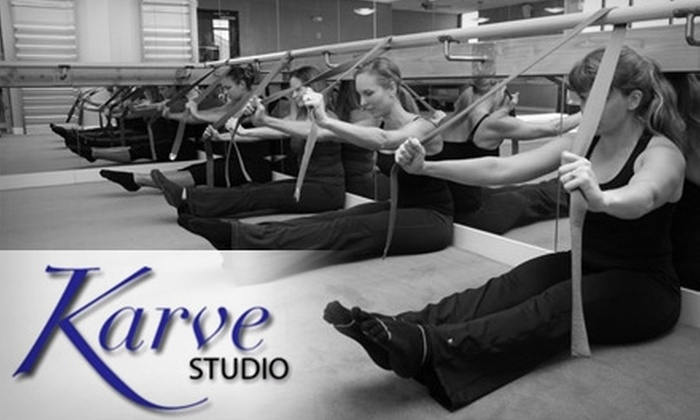 Karve Studio - Multiple Locations: $30 for Three Body-Sculpting Classes at Karve Studio