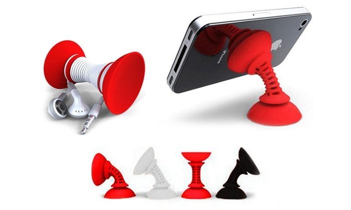 Groupon Goods Global GmbH: Soporte universal efecto ventosa para Smartphones con o sin auriculares desde 4,99 € (hasta 75% de descuento)