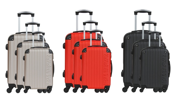 Unanyme Georges Rech Three Piece Barcelone Luggage Set With Luggage Scales For 89 99 With Free Delivery 83 Off