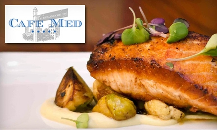Café Med - Chicago: $25 for $50 Worth of Contemporary American Dinner Fare or $15 for $30 Worth of Breakfast or Lunch at Café Med