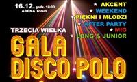 119,99 zł: bilet dla 2 osób na III Świąteczną Galę Disco Polo w Hali Arena Toruń (zamiast 140 zł)