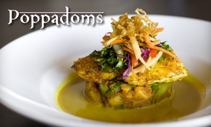 Poppadoms - Highway 97: $10 for $20 Worth of Indian Cuisine at Poppadoms