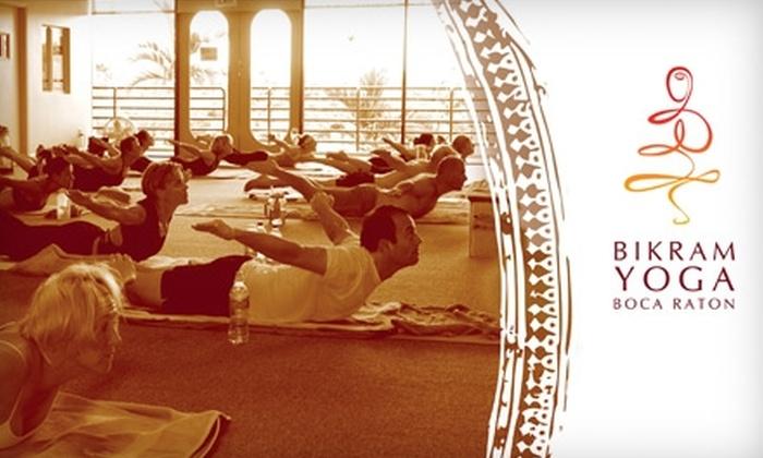 Bikram Yoga Boca Raton - Estancia of Via Verde South: $59 for a 10-Session Pass at Bikram Yoga Boca Raton ($150 Value)