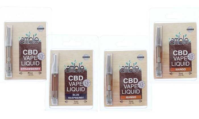 Up To 45% Off on Amble CBD Vape Liquid Cartridge | Groupon Goods