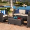 Venice Outdoor Wicker Sofa Set (4-Pieces)