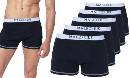Pack de 5 boxers Malexxius en coton