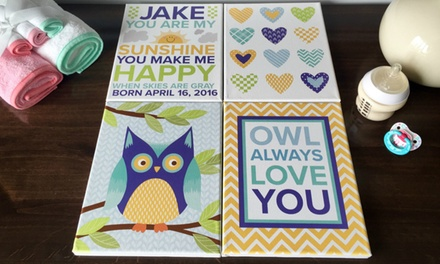 Personalized Painted Wooden Family Wall Signs (Up to 51% Off)