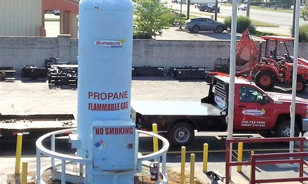 One or Two 20 Pounds Propane Tank Refills at Superior Rents (Up to 48% Off)