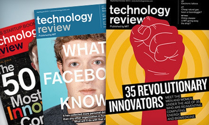 """MIT Technology Review: $12 for a Print or One-Year Digital Subscription to """"MIT Technology Review"""" ($24.95 Value)"""