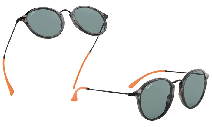 1d14906f4 Ray-Ban Round Fleck Pop Polarized Sunglasses | Groupon
