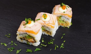 Sushi Express Cafe: 16 or 32 Pieces of Sushi Rolls or Two or Four Bento Boxes for Dine-In or Delivery at Sushi Express Cafe (Up to 64% Off)