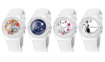 Montre animée mouvement magique So Charm Paris ornée de 87 cristaux Swarovski®
