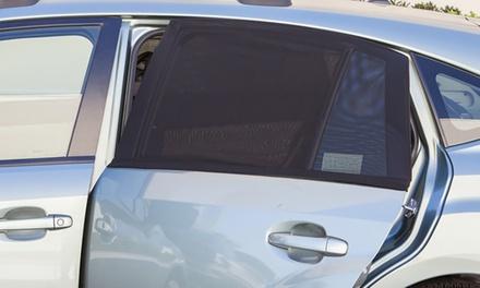 2er- oder 4er-Set Sonnenschutzblenden aus dehnbaren und flexiblem Netzmaterial für Autoscheiben (6,99 €)