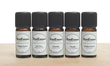 1 o 2 packs de 5 aceites esenciales para aromaterapia RevelEssence