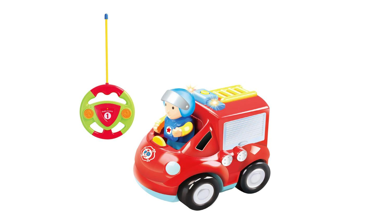 SOKA My First Remote Control Fire Truck Engine Toy with Sound and Light
