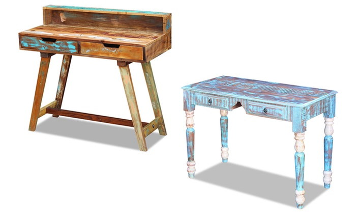 Bad Tafel Hout : Bureau of tafel van gerecycled hout groupon goods