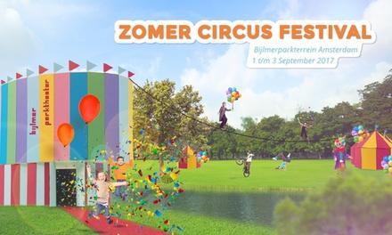 Tickets voor het Zomercircus Festival Amsterdam van Circus Elleboog op 2 en 3 september in het Bijlmerparktheater