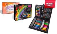 שעות של דמיון ויצירה: ערכת צבעים 73 חלקים או ערכה משודרגת עם 85 חלקים, החל מ-49 ₪ כולל משלוח חינם!