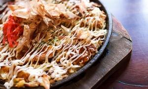 Samurai Okonomiyaki: Japanese Grilled Okonomiyaki Pizza with Drink for One ($7) or Two People ($12) at Samurai Okonomiyaki (Up to $24 Value)