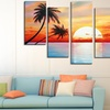 Hand-Painted Tree and Forest Oil Paintings on Gallery-Wrapped Canvas