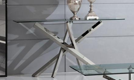 Consolle con struttura in acciaio