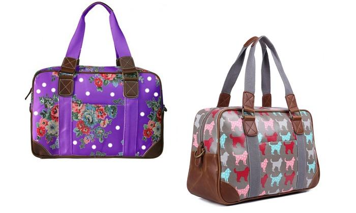 Miss Lulu Women's Oilcloth Travel Bag