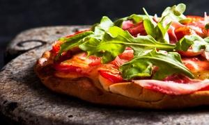 Pizza Capitale: Menu pinsa da asporto con antipasto e birra per 2 o 4 persone da Pizza Capitale (sconto fino a 42%)