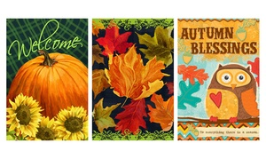 Fall 12''x18'' Garden Flags
