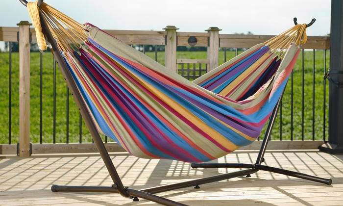 Image Placeholder Image For Vivere 9 Ft. Double Hammock With Stand