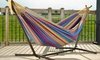 Vivere 9 Ft. Double Hammock with Stand: Vivere 9 Ft. Double Hammock with Stand