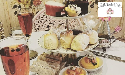 Traditional High Tea for Two ($39) or Four People ($69) at Just Tickled Pink, Hyde Park (Up to $160 Value)