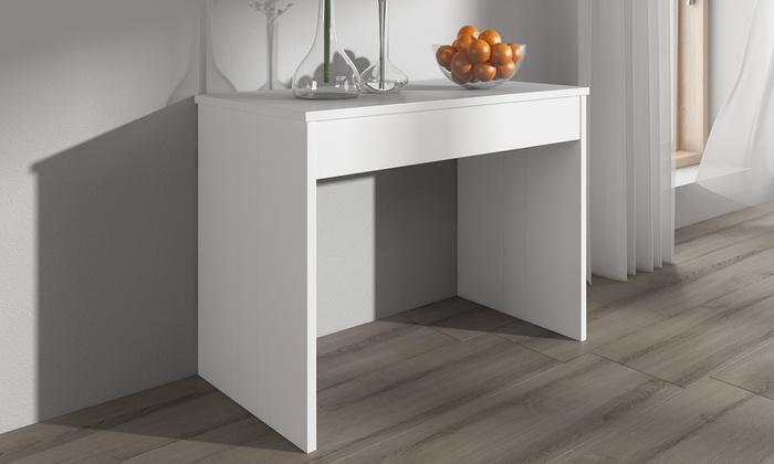 ausziehbarer konsolentisch groupon goods. Black Bedroom Furniture Sets. Home Design Ideas