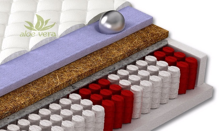 Aloe Vera Matras : Pocketvering matras met zones groupon goods