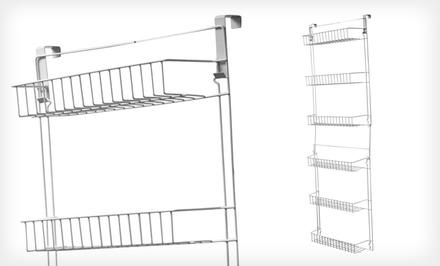 Over-Door Storage Basket Rack